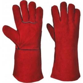 Γάντια ηλεκτροσυγκολλητών 35cm δερμάτινα Prime OEM
