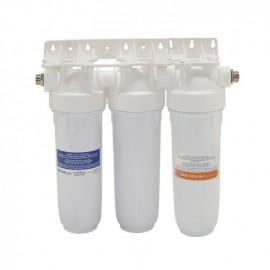 """Συσκευή Φίλτρου Νερού DP TRIO τριπλή Λευκό 1/2"""" 10' ΑΤΛΑΣ 15026"""