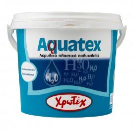 AQUATEX Σατινέ Ακρυλικό πλαστικό Λευκό 0.75lt Χρωτέχ