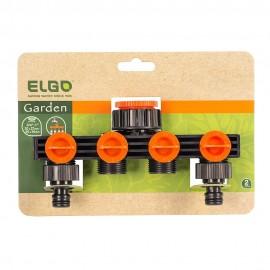 Διακλαδωτής παροχής νερού  4 θέσεων ELGO