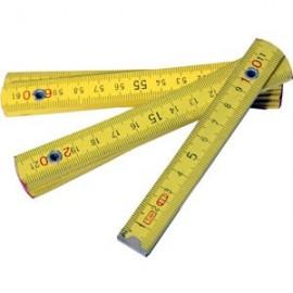 Μέτρο 1 μέτρου σπαστό πλαστικό κίτρινο