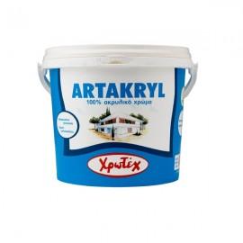 ARTAKRYL Λευκό 0,75lt 100% Ακρυλικό χρώμα εξωτερικής χρήσης ΧΡΩΤΕΧ