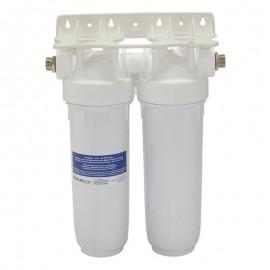 """Συσκευή Φίλτρου Νερού DP διπλή Λευκή 1/2"""" MFO SX-BW 10"""" Atlas Filtri 314211"""