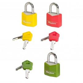 Λουκέτα Νο30 σετ 2 τεμαχίων με ίδιο κλειδί Master Lock 9130TCOL
