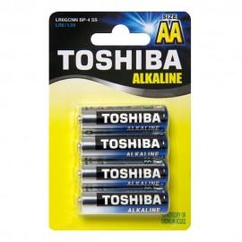Μπαταρίες Toshiba αλκαλικές 2A σετ 4 τεμ. LR6 1.5V