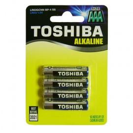 Μπαταρίες Toshiba αλκαλικές 3A σετ 4 τεμ. LR03 1.5V