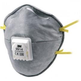 Μάσκα προστασίας 3M σετ 2 τεμ. ενεργού άνθρακα 9914C
