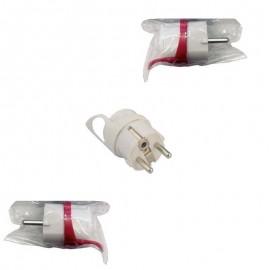 Φις σούκο αρσενικό 16Α λευκό OEM
