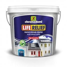 Ρελιέφ ακρυλικό χρώμα Λευκό Life Relief 5kg Χρωμοδομή